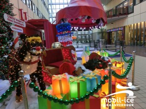 Kerstsfeer in Beatrix Kinderziekenhuis december 2015